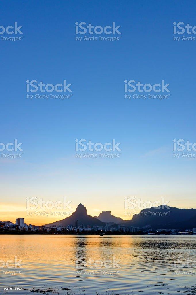 Dusk in Rio de Janeiro stock photo