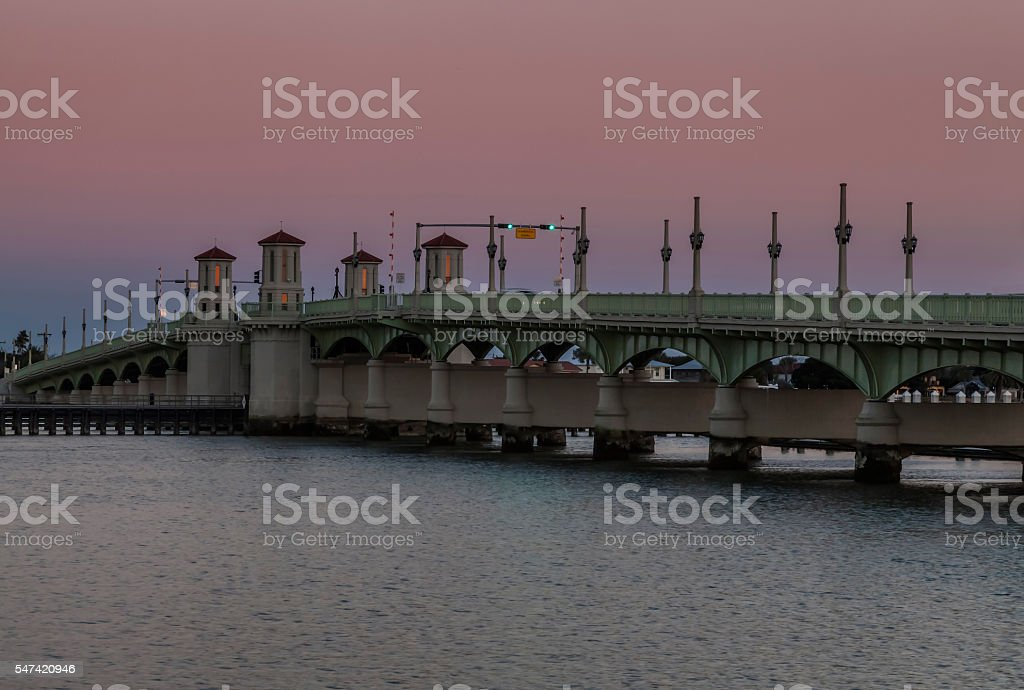 Dusk in St. Augustine stock photo