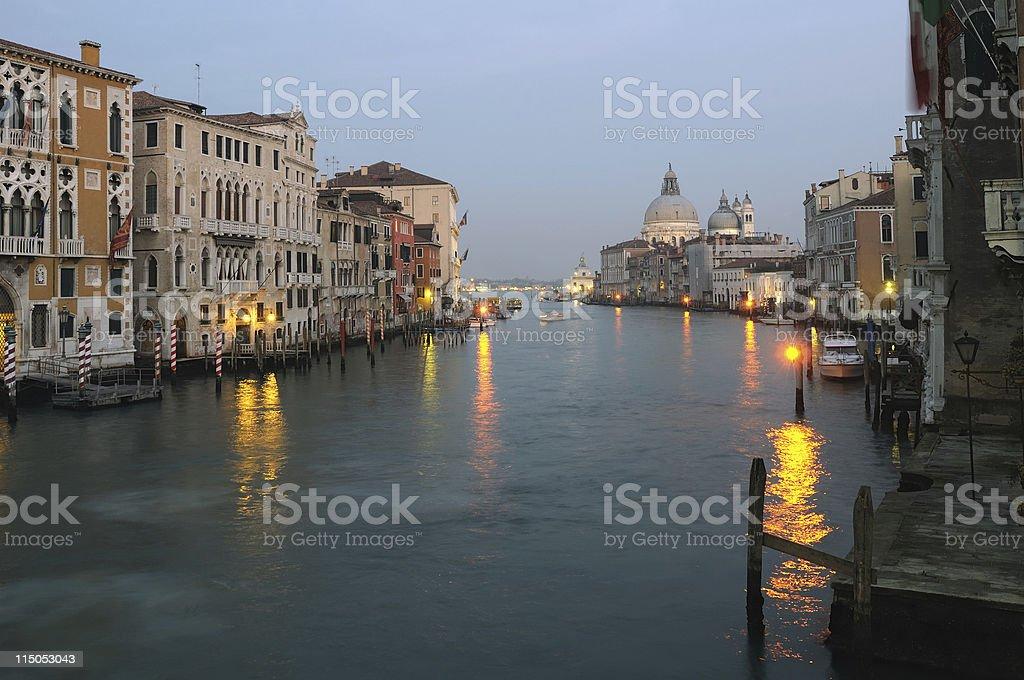 Dusk in Venice stock photo