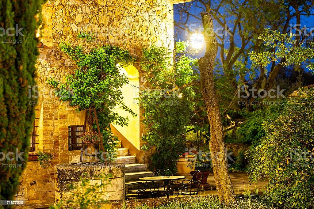 Dusk inTuscany, Italy royalty-free stock photo