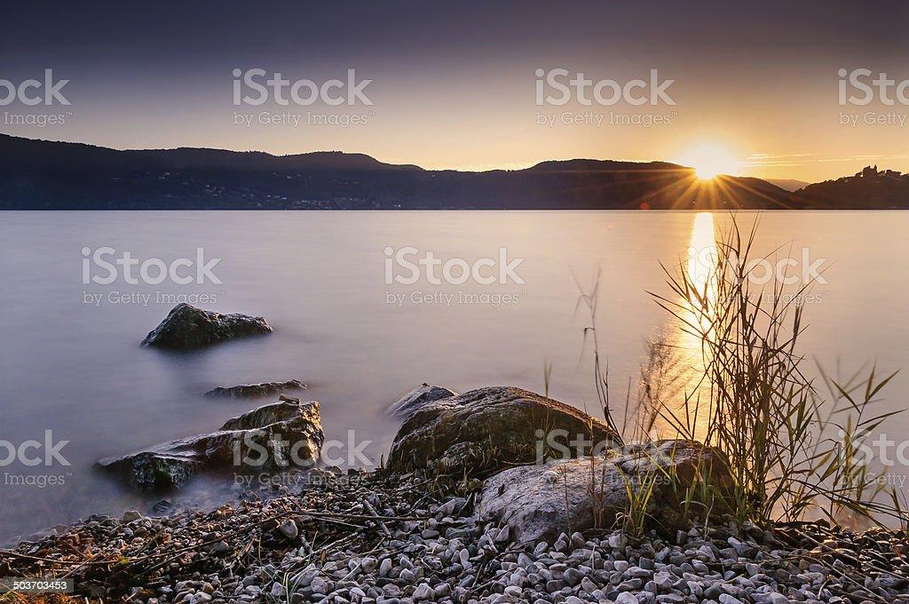 Crépuscule sur le lac d'Aix-les-Bains - Photo