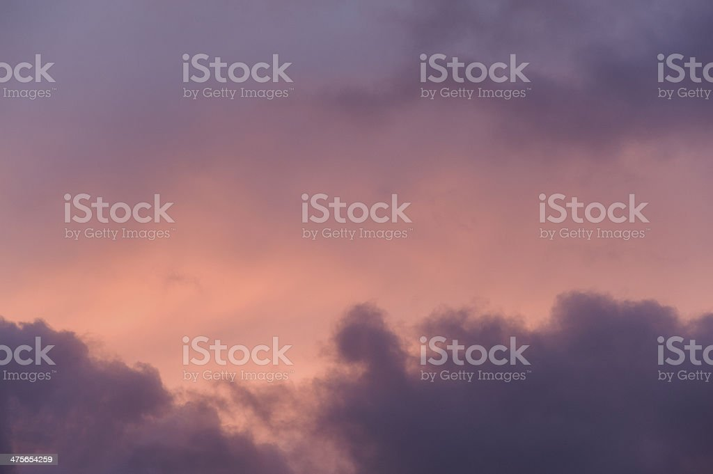 Dusk sky in orange and purple royalty-free stock photo