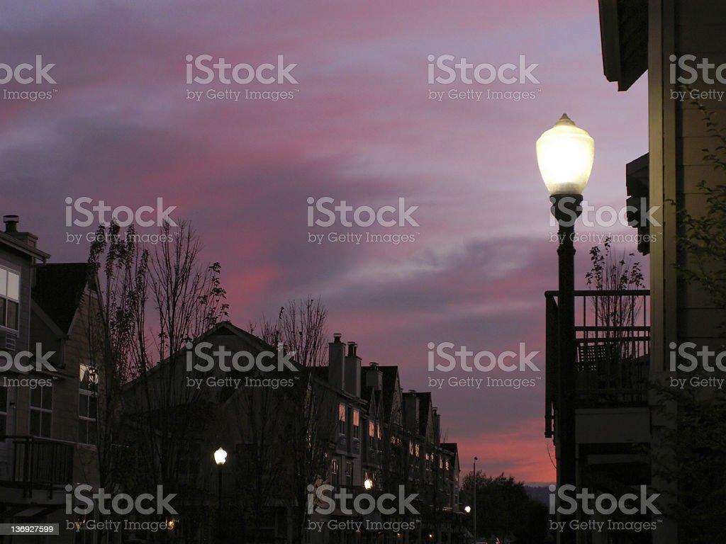 Dusk Sky Light royalty-free stock photo