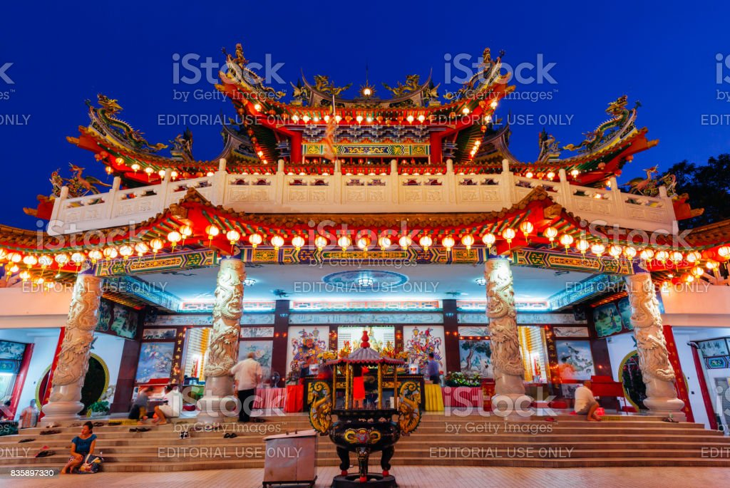 Dusk view of Thean Hou Temple, Kuala Lumpur royalty-free stock photo
