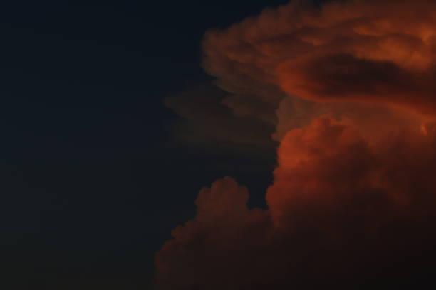 Dusky Clouds at Karon Beach Phuket stock photo
