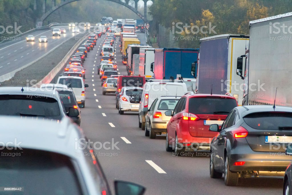 Altrosa Autobahn Landschaft – Foto