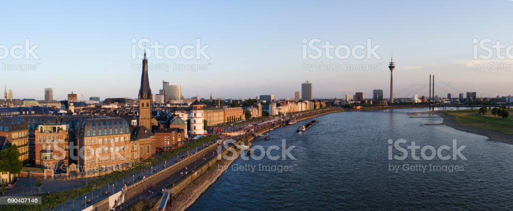 Dusseldorf aerial image series stock photo