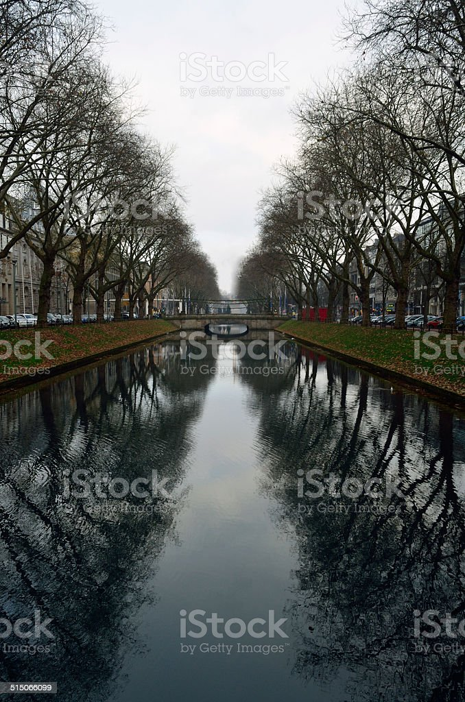 Dusseldorf channel stock photo