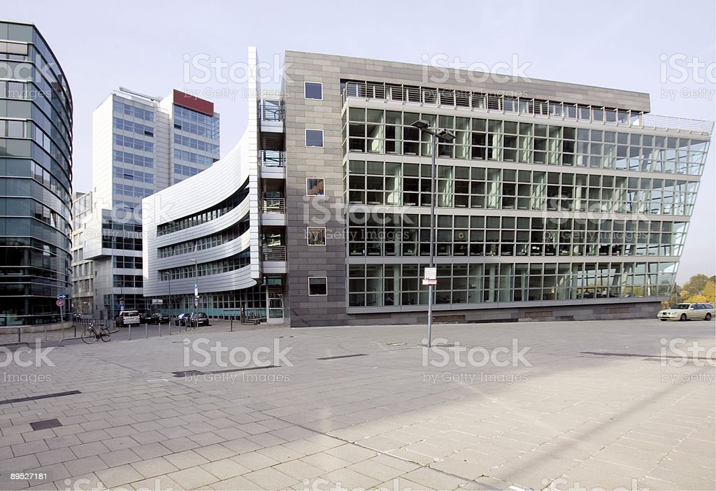 Dusseldorf Harborside royalty-free stock photo
