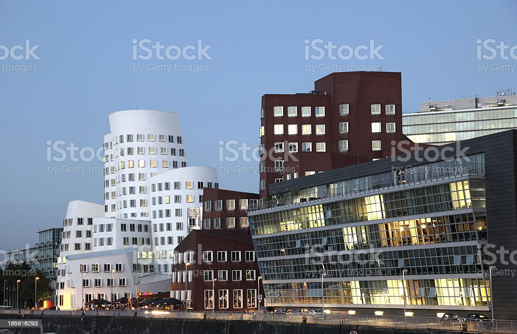 Dusseldorf Media Harbor, Germany stock photo