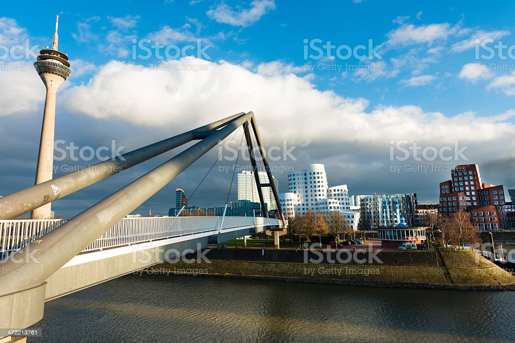 Dusseldorf media harbor stock photo