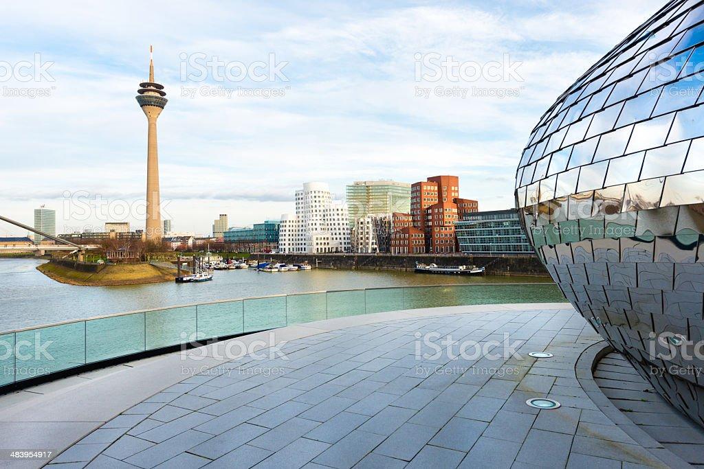 Dusseldorf media harbor stock photo