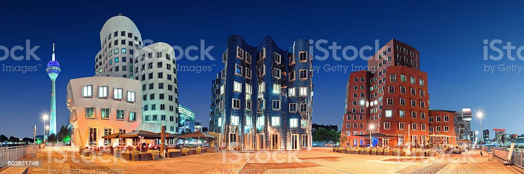 Dusseldorf Medienhafen Germany stock photo