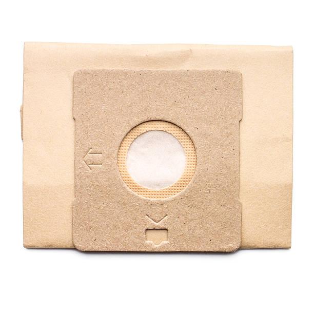 Staub Tasche für Staubsauger isoliert auf weißem Hintergrund – Foto