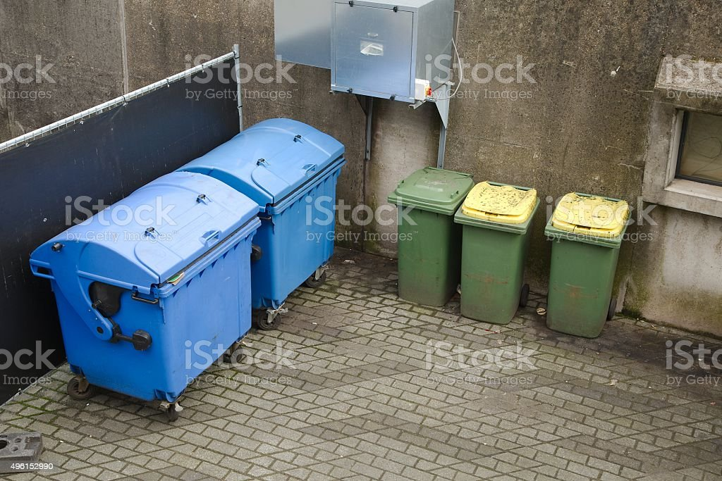 Dust bin containers stock photo