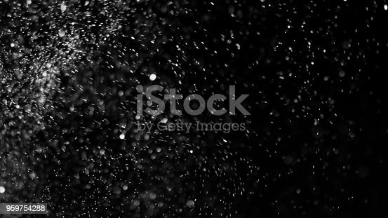istock Dust Cloud Isolated Black Background Bubble Bokeh 959754288