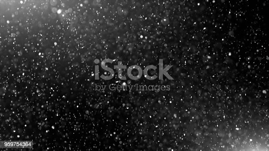 istock Dust Cloud Isolated Black Background Bubble Bokeh 959754364
