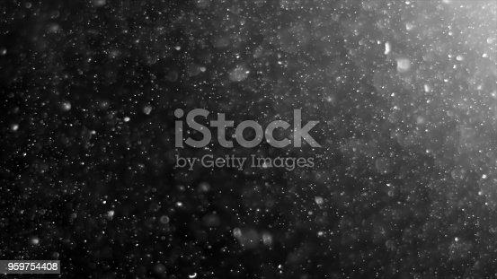959753354 istock photo Dust Cloud Isolated Black Background Bubble Bokeh 959754408