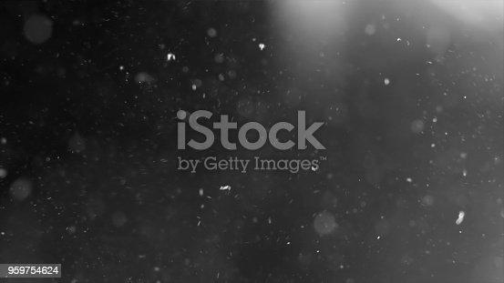 959753354 istock photo Dust Cloud Isolated Black Background Bubble Bokeh 959754624