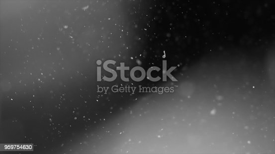 959753354 istock photo Dust Cloud Isolated Black Background Bubble Bokeh 959754630