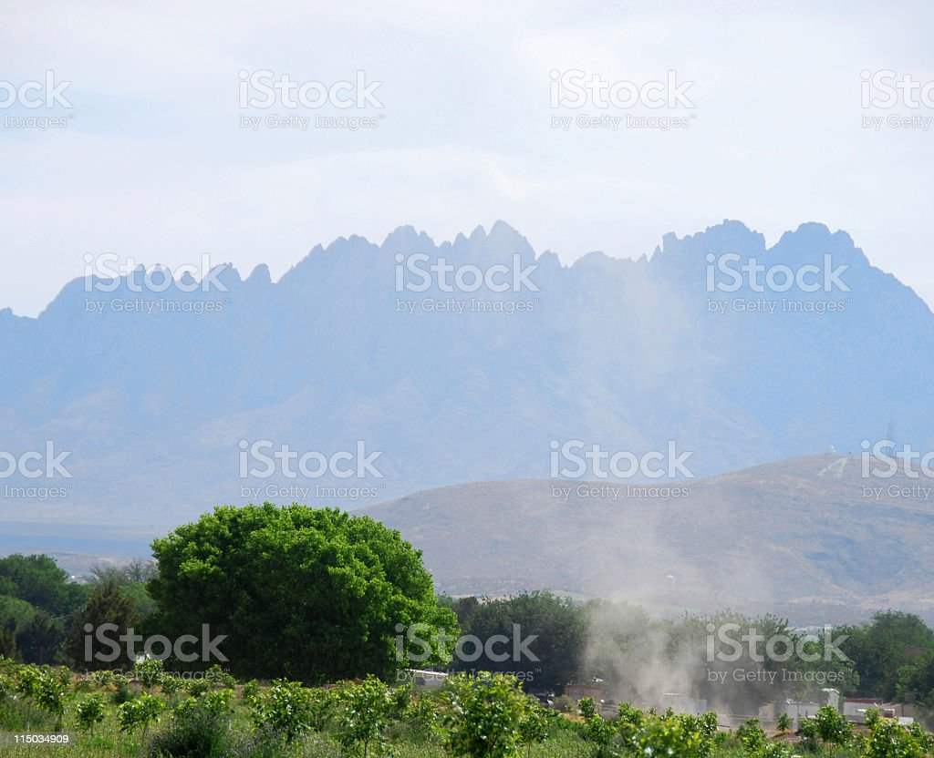 Dust Devil in Mesilla Valley Near Las Cruces royalty-free stock photo
