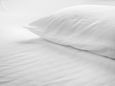 istock Dust mites pillow and bedding cover. 624681132