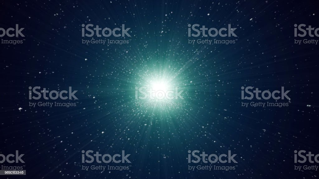 Dust particle explosion, Light ray effect.