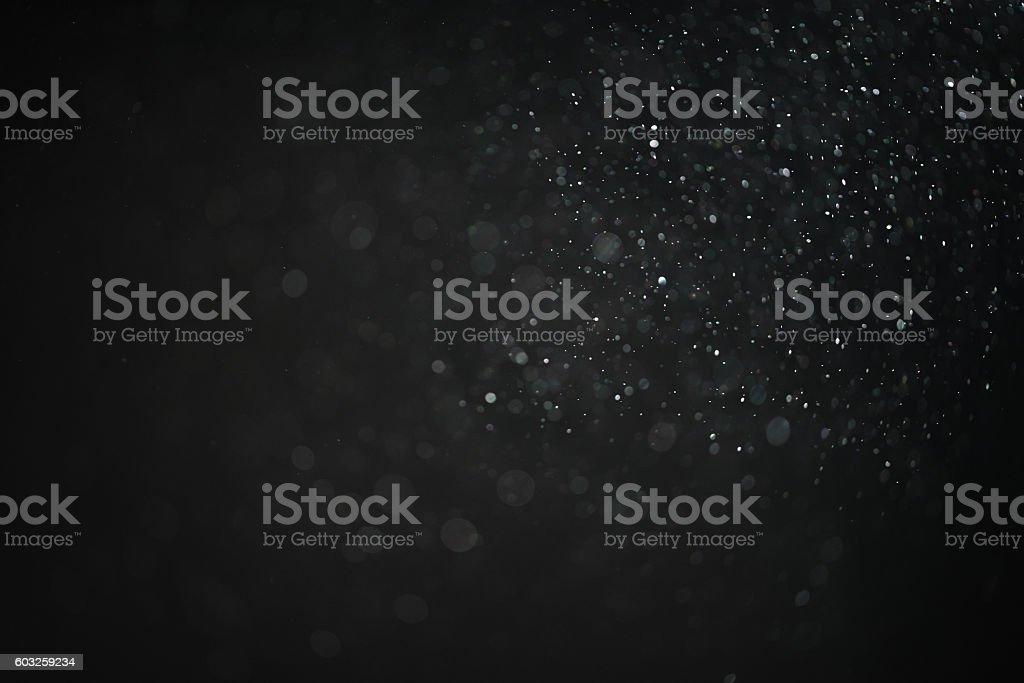 dust particles overblack background fx backdrop - foto de stock
