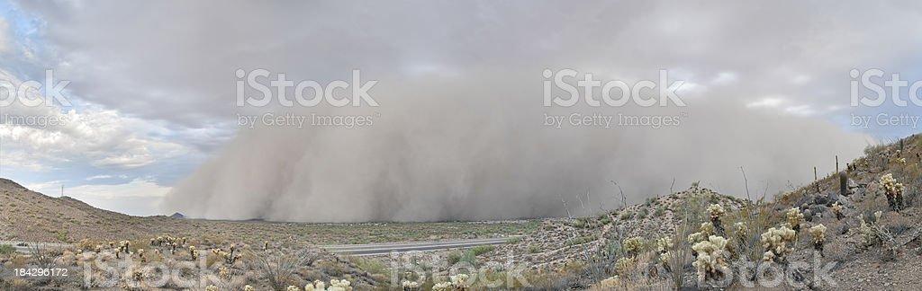 Dust Storm Haboob Panorama stock photo