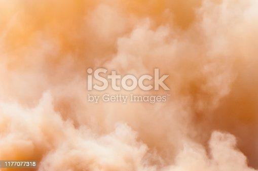 Dust clouds in the Arabian desert