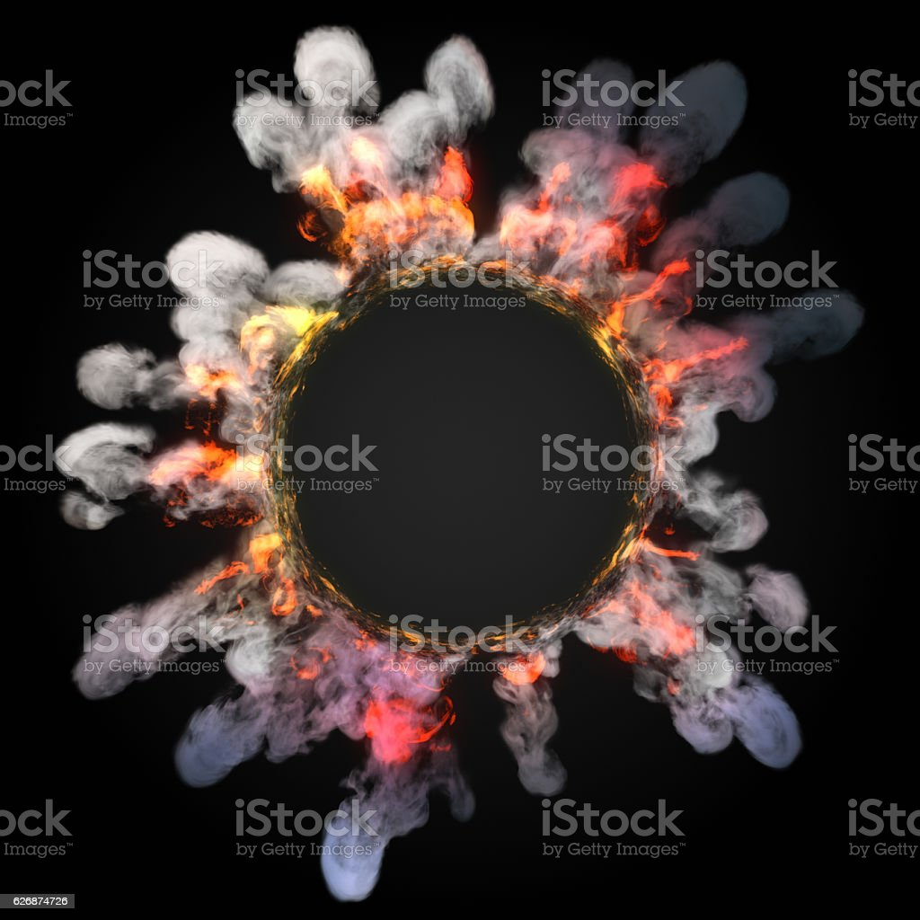 Dust wave move on dark background 3d rendering stock photo