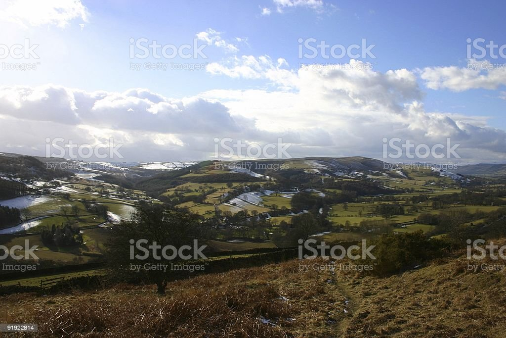 Dusting of snow on rural England royalty-free stock photo