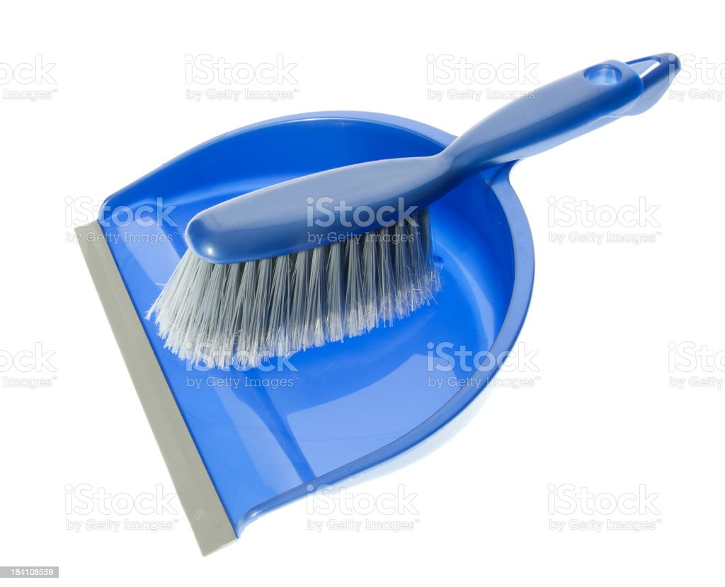 dustpan and broom stock photo