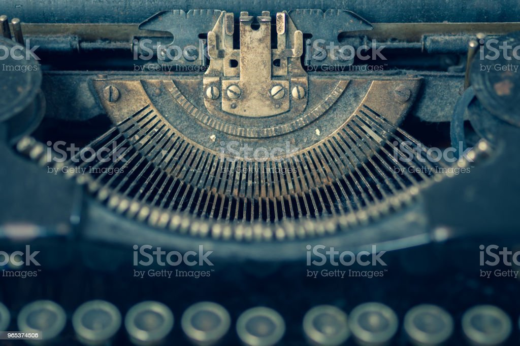 Dusty antique typewriter royalty-free stock photo