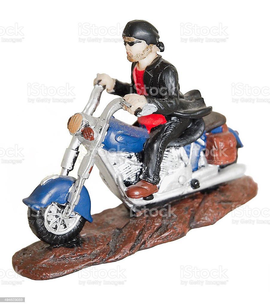 Dusty Biker Ornament stock photo