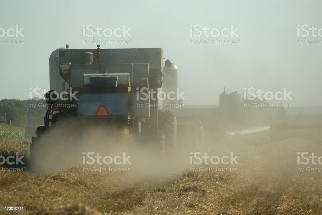 Dusty Combine stock photo