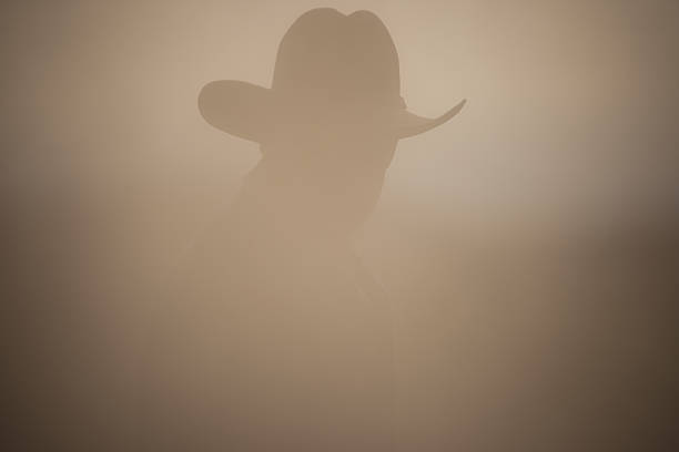 dusty cowboy stock photo