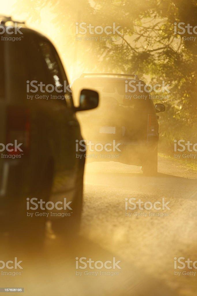 Dusty Dirt Road royalty-free stock photo