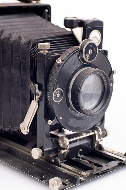 dusty folding camera stock photo