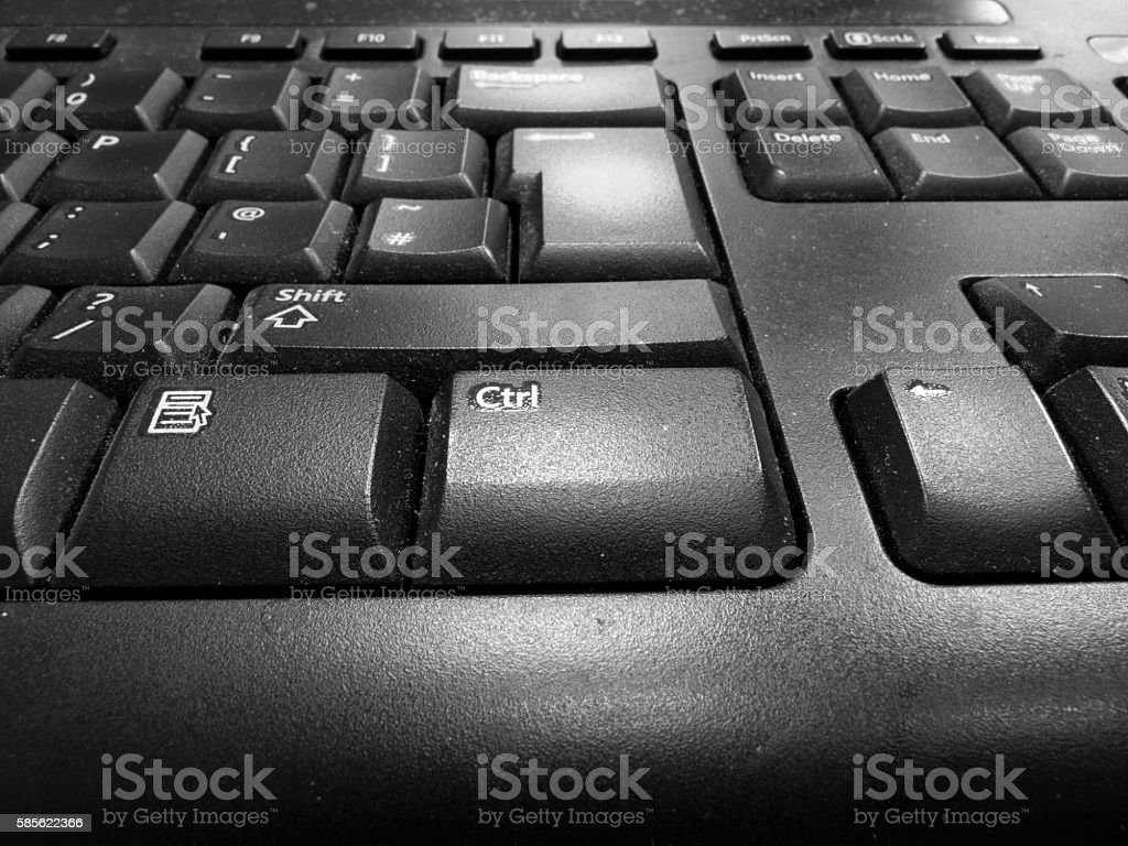 Dusty old keyboard - foto de stock