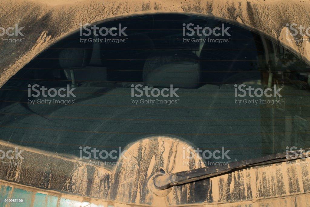 Staubige Heckscheibe – Foto