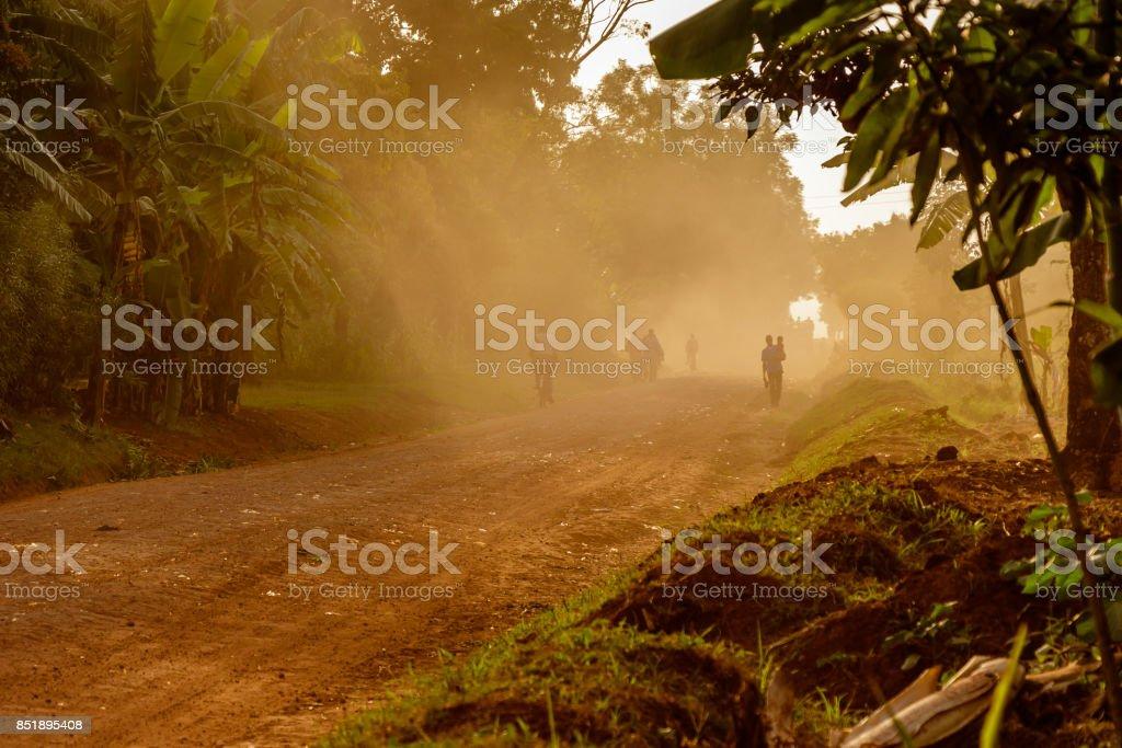 Dusty road stock photo