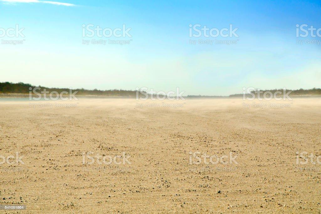 Dusty shore stock photo