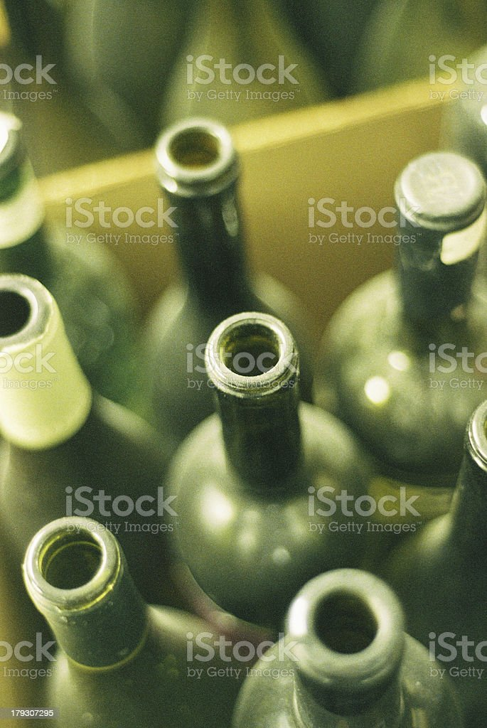 dusty wine bottles royalty-free stock photo
