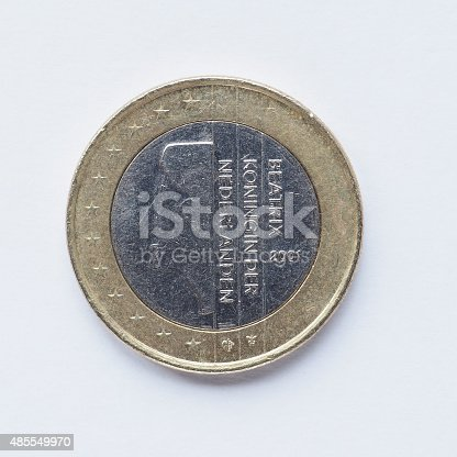 istock Dutch 1 Euro coin 485549970