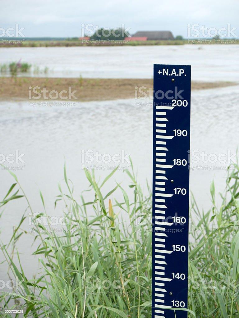 Dutch Amsterdam Level (Water Cauge) stock photo