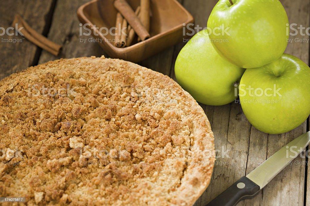 Dutch Apple Pie royalty-free stock photo
