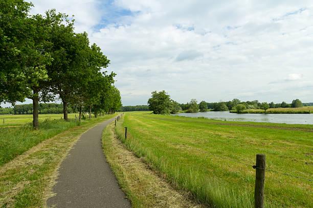 Dutch bike path stock photo