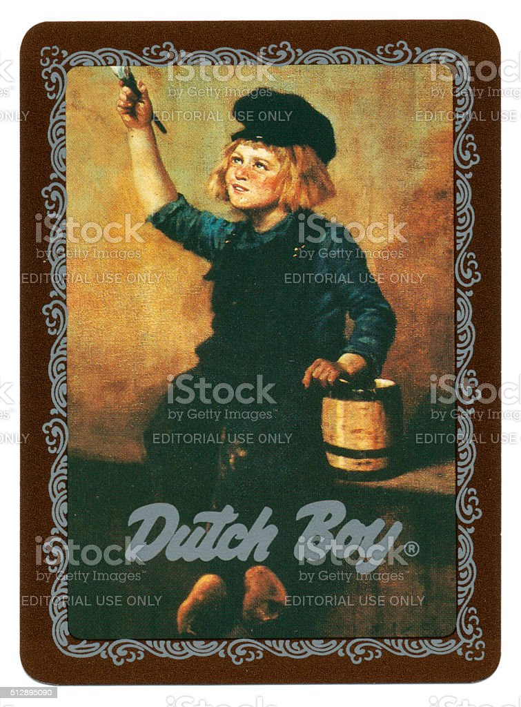 Dutch Boy Painter Playing Card Back Design Stock Photo Download Image Now Istock