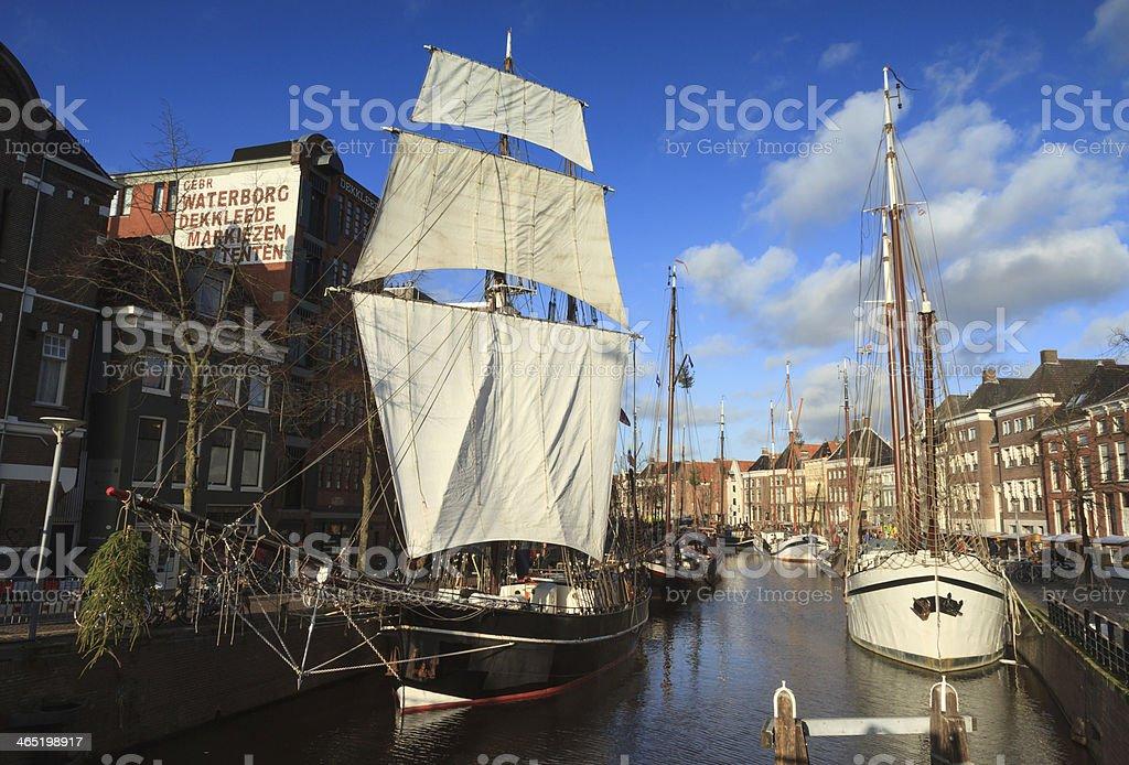 Dutch canal stock photo